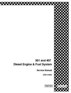 CASE IH D361 407 DIESEL ENGINE & FUEL SYSTEM SERVICE