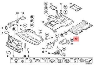Genuine BMW E39 Sedan Driver Side Engine Splash Shield