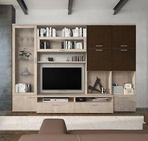 Mobile soggiorno in vendita in arredamento e casalinghi: Parete Attrezzata Mobile Tv Sala Da Pranzo Marrone E Rovere Salotto Soggiorno Ebay