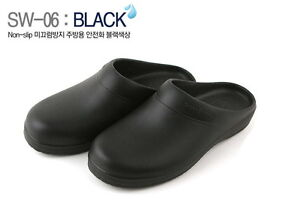 kitchen safe shoes southwest black new chef clog non slip safety cook water image is loading