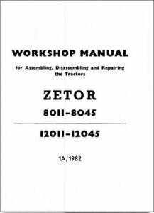 Zetor 8011 8045 12011 12045 Tractor Service Repair