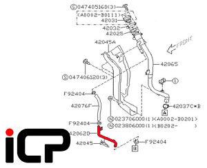 Fuel Filler Neck Lower Vent Pipe Fits: Subaru Impreza 00