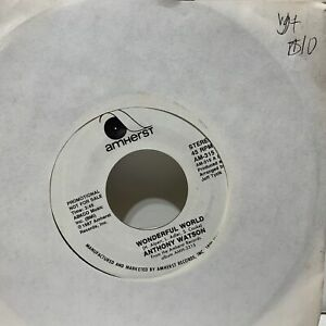 Complete song listing of johnny. Anthony Watson Wonderful World- Amherst 315 Promo VG+ Soul ...