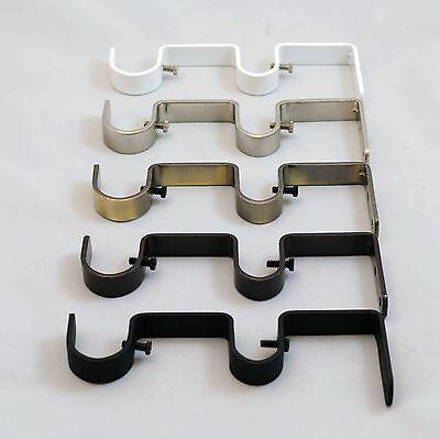 urbanest heavy duty steel double drapery curtain rod bracket for 1 or 3 4 rod ebay