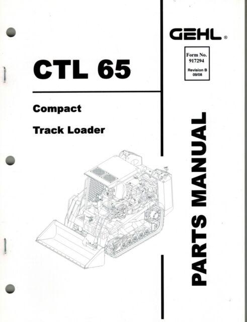GEHL CTL 65 COMPACT TRACK LOADER PARTS MANUAL No. 917942