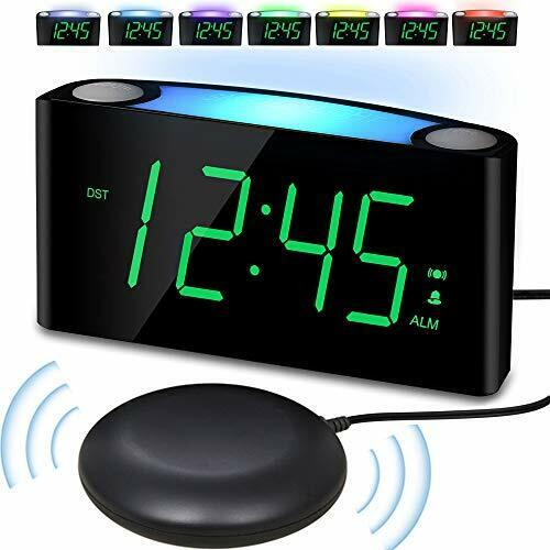 Loud Alarm Clock With Bed Shaker