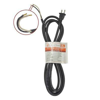 9 Feet 16 AWG SJO 2 Wire 125 Volt Electrical Cord W/ Quick
