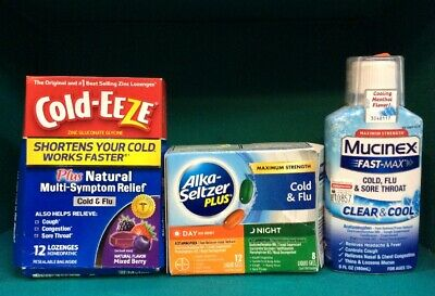 Alka Seltzer / Cold Eeze / Mucinex Cold Clear Plus (lot of ...