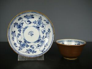 Beautiful Chinese Porcelain B/W Cup&Saucer-Flo