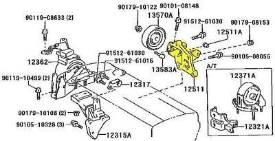Toyota JDM 4AGE 20V Blacktop/Silvertop Alternator Bracket