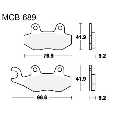 Scooter Brake Pads TRW MCB689Ec For Kymco Agility 125 R12