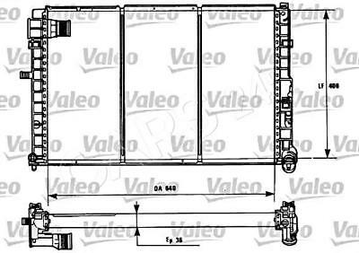 VALEO Engine Cooling Radiator Fits CITROEN Wagon PEUGEOT