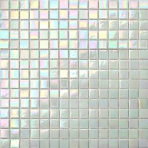 details about iridescent white vitreous glass mosaic tiles sheets bathroom shower gtr10131