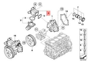Genuine BMW E46 Engine Cooling Waterpump Thermostat