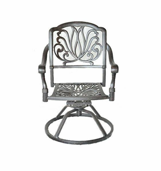 outdoor patio dining chairs swivel rocker cast aluminum seat elisabeth bronze for sale online ebay