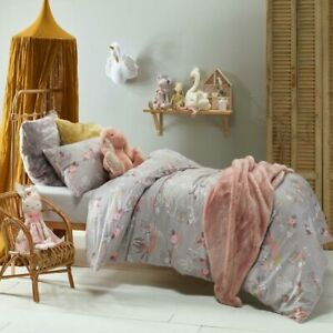 details about jiggle giggle kids girls woodlands doona quilt cover set single double queen