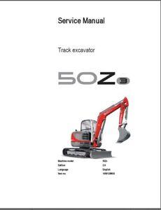 Wacker Neuson 50Z3 Track Excavator Service Repair Manual