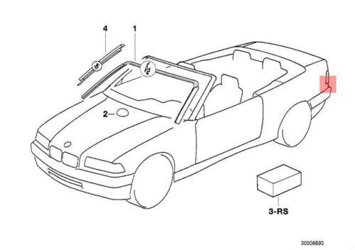 Genuine BMW E36 Convertible Windscreen Moulding Trim Seal