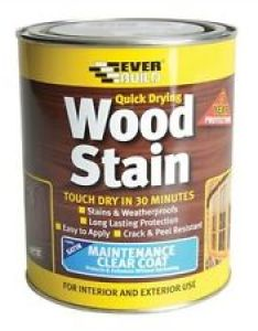Image is loading everbuild quick drying wood stain  weatherproof also satin many rh ebay