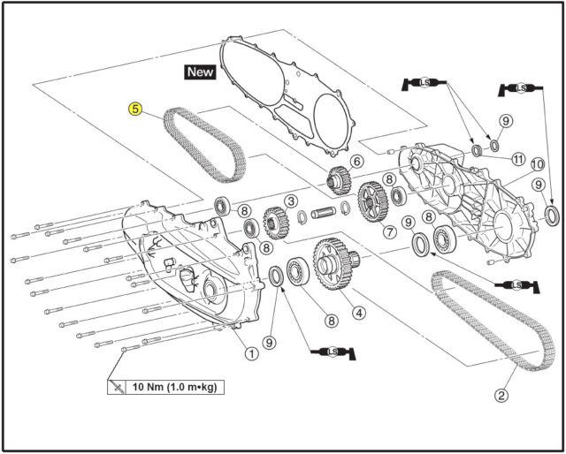 2001-2003 Yamaha T-Max XP-500 🔴 TMAX Primary drive 🔴 chain