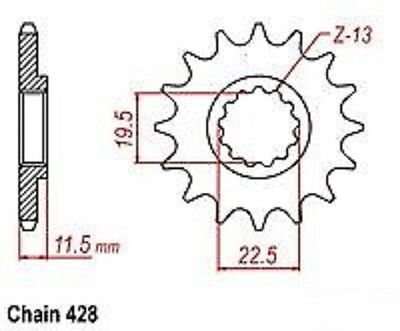 Qlink XF200 XP200 Sprocket Counter Motorsports Enduro 200