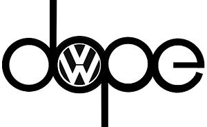 DOPE Dub VW Volkswagen EURO CAR WINDOW STICKER VINYL DECAL