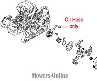 Genuine Stihl Chainsaw Oil Hose 1143 647 9403 MS231 MS251