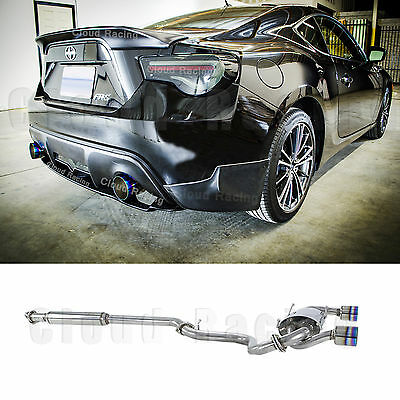 2013 2020 stainless dual burn tip catback exhaust for scion frs gt86 subaru brz ebay