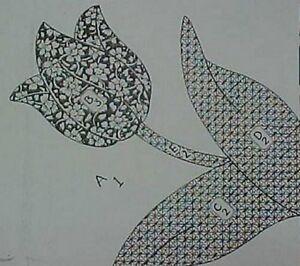 Vintage Quilt Pattern Mail Order Tulip Applique Block