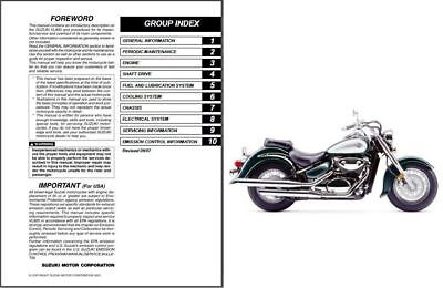 2001-2009 Suzuki VL800 Intruder Volusia Service Repair