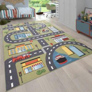 details sur tapis pour enfant chambre d enfant tapis de jeu motif rues et voitures vert