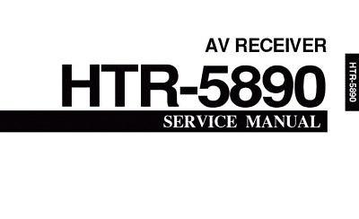 YAMAHA HTR-5890 AV RECEIVER SERVICE MANUAL BOOK INC