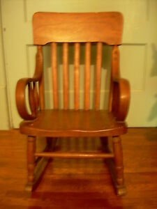 1920s rocking chair bar stool seat covers antique for child c bent wood arms molded image is loading