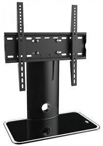 details sur ricoo meuble tv design fs303b support sur pied en verre suspension led lcd