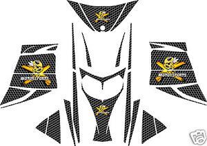 BLACK HONEYCOMB SLED WRAP for SKI-DOO rev mxz 2003-07