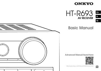 Onkyo Integra HT-R693 Receiver Owners Instruction Manual