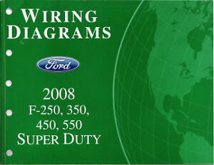 2008 Ford F250 F350 F450 F550 Factory Wiring Diagram Scehmatics Manual | eBay
