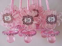 12 Pink Pacifier Necklaces It's a Girl Baby Shower Game