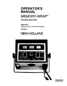 New Holland 848 853 855 Baler Memory Wrap Operators Manual