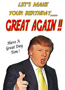 Trump Birthday Ecard Funny Donald Card Free Coloring