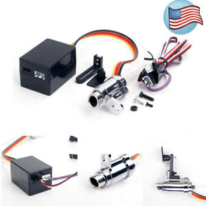 details zu alloy upgrade electronic simulation smoking exhaust pipe kit for 1 10 rc car us