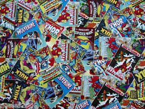 Fabric by the Yard Marvel Retro Comic