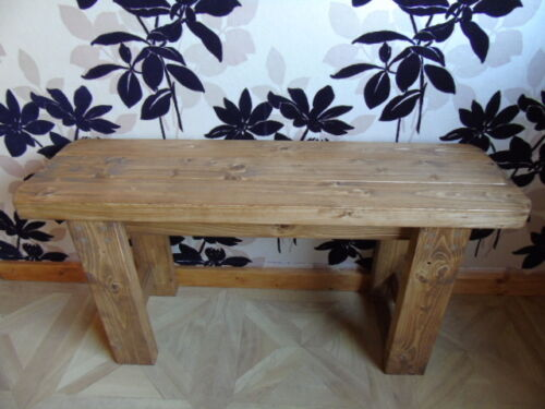 Rustic-Handmade-Wooden-Bench-Many-Colours-Unique-Design