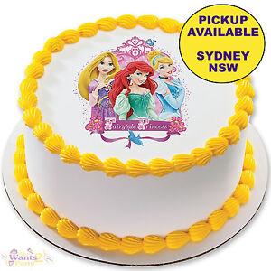Disney Princess Party Supplies Birthday Cake Image Topper Round