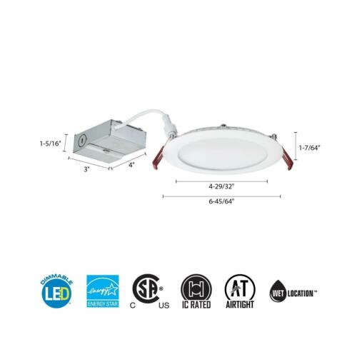 ceiling light 6 inch wafer white led wf6 led 30k mw m6 lithonia lighting building materials supplies industrial lighting fixtures