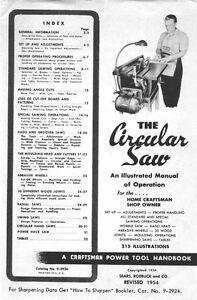1954 Craftsman Circular Saw-Table/Radial/Swing/Portable
