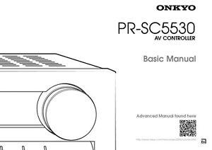 Onkyo Integra PR-SC5530 Basic AV Controller Owners
