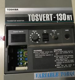 toshiba tosvert 130h1 3 hp transistor inverter motor drive cnc machine tools for sale online ebay [ 1600 x 1200 Pixel ]