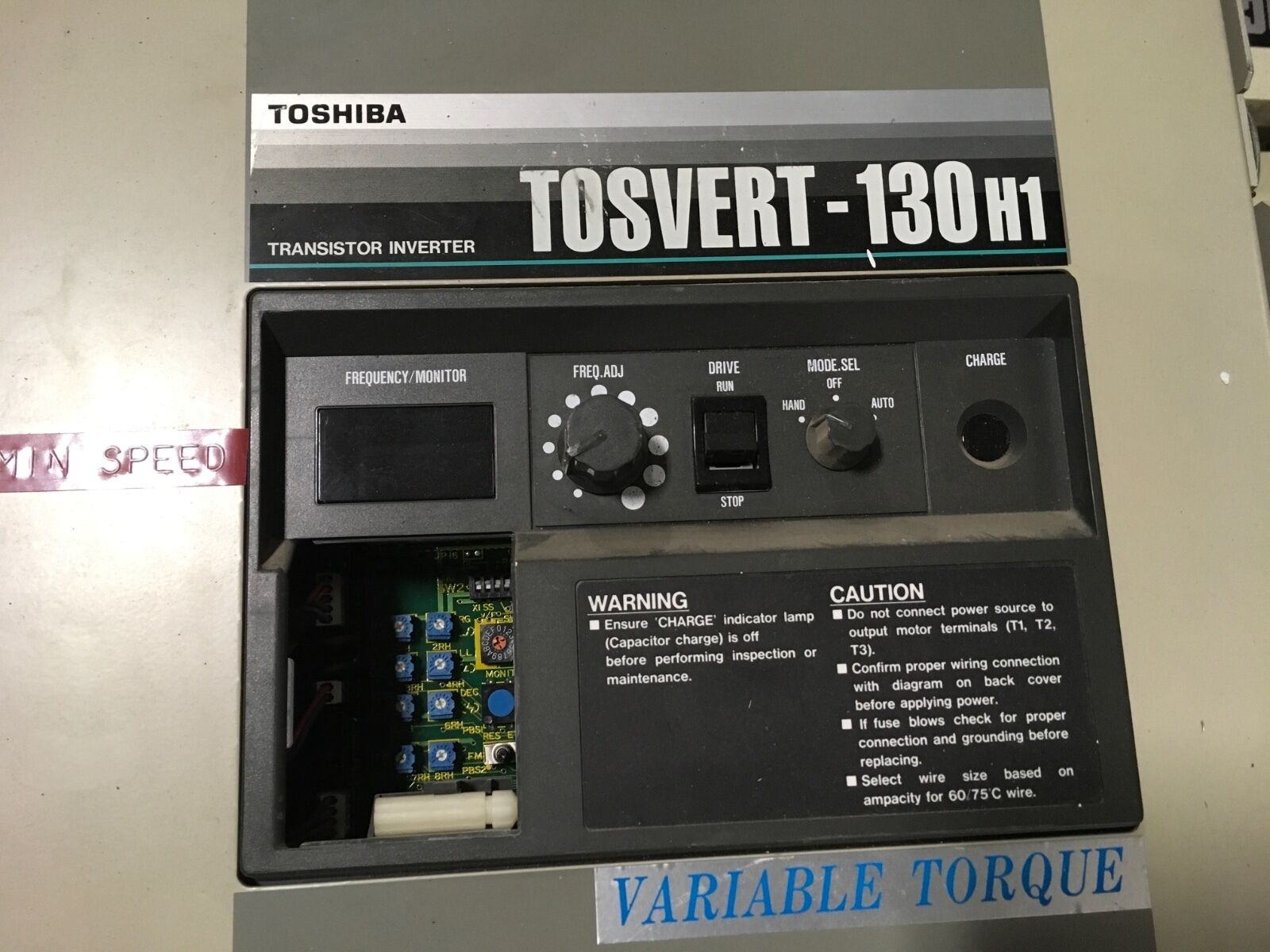 hight resolution of toshiba tosvert 130h1 3 hp transistor inverter motor drive cnc machine tools for sale online ebay