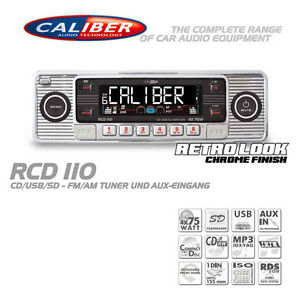 Caliber RCD110 Retro Radio Autoradio Classic Oldtimer USB